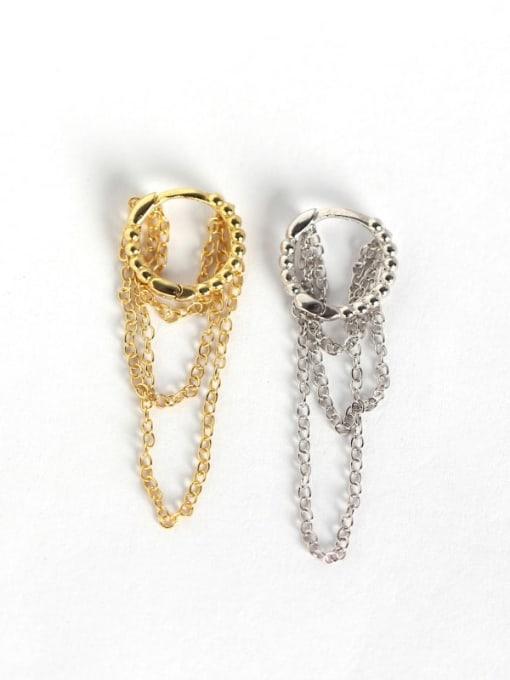 ACE 925 Sterling Silver Geometric Minimalist Huggie Earring 2
