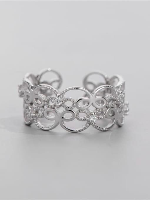 ARTTI 925 Sterling Silver Cubic Zirconia Geometric Minimalist Band Ring 3