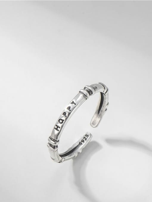 ARTTI 925 Sterling Silver Twist  Round Minimalist Band Ring