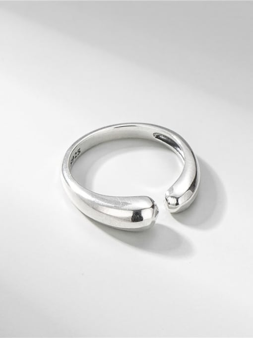 Water drop ring 925 Sterling Silver Geometric Minimalist Band Ring