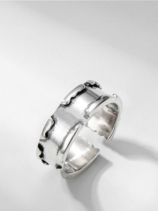 Broken ring 925 Sterling Silver Geometric Vintage Band Ring