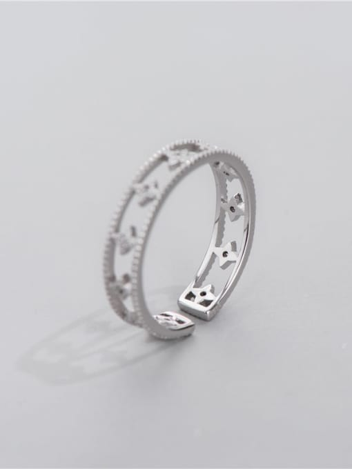 ARTTI 925 Sterling Silver Cubic Zirconia Star Minimalist Stackable Ring 0