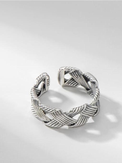 ARTTI 925 Sterling Silver Geometric Vintage Midi Ring