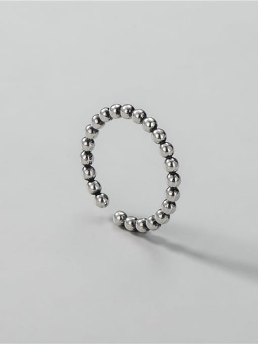 ARTTI 925 Sterling Silver Bead Round Vintage Band Ring 2