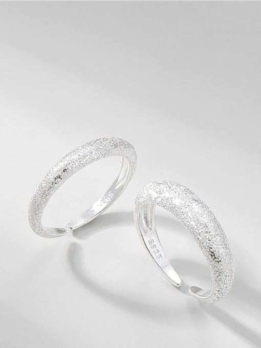 Flash sand ring 925 Sterling Silver Round Minimalist Band Ring