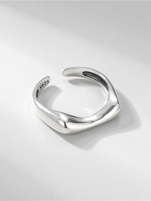 Concave ring 925 Sterling Silver Irregular Minimalist Band Ring