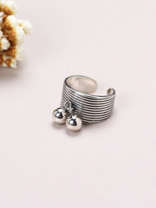 ACE 925 Sterling Silver Ball Trend Stackable Ring 0