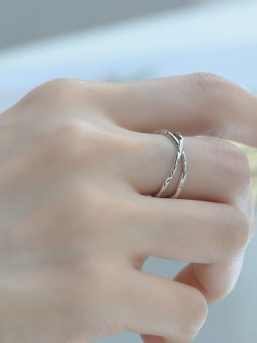 ARTTI 925 Sterling Silver Cross Vintage Band Ring 1