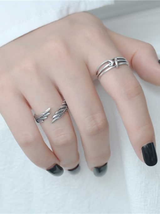 ARTTI 925 Sterling Silver Wing Vintage Band Ring 2