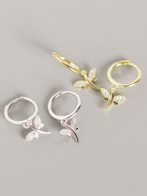 ACE 925 Sterling Silver Dragonfly Trend Huggie Earring