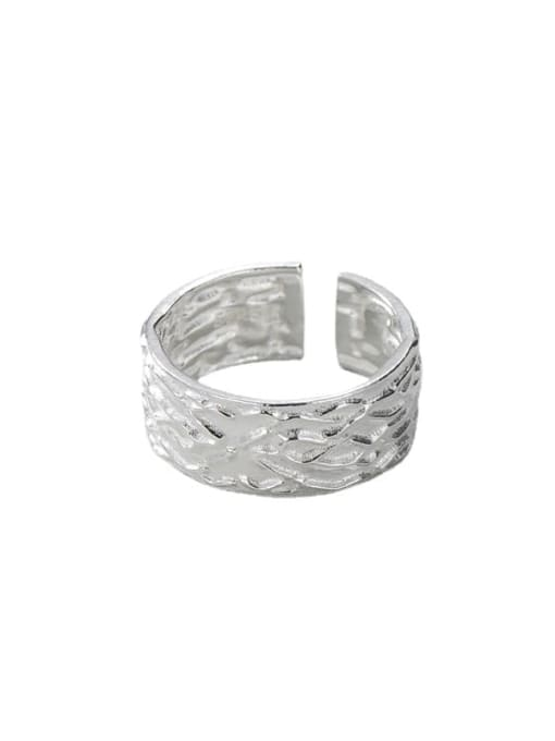Texture ring 925 Sterling Silver Geometric Minimalist Band Ring