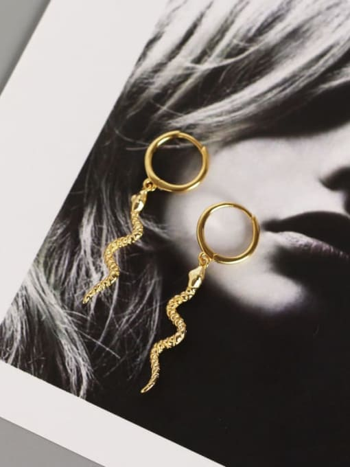 ACE 925 Sterling Silver Snake Ethnic Stud Earring 2