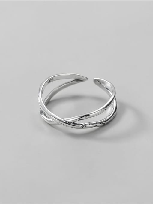 Cross Ring 925 Sterling Silver Cross Vintage Band Ring