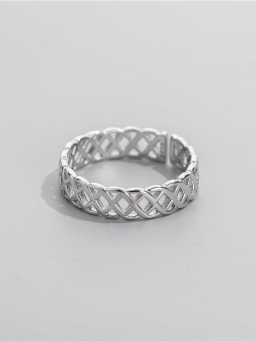 ARTTI 925 Sterling Silver Geometric Minimalist Band Ring 0