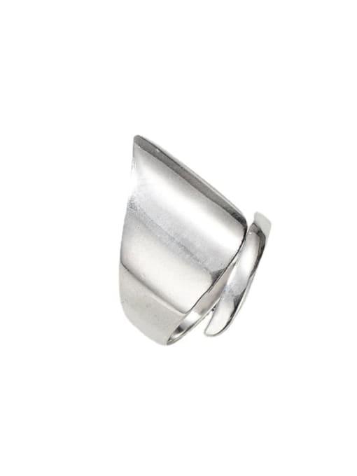 Irregular ring 925 Sterling Silver Geometric Minimalist Band Ring