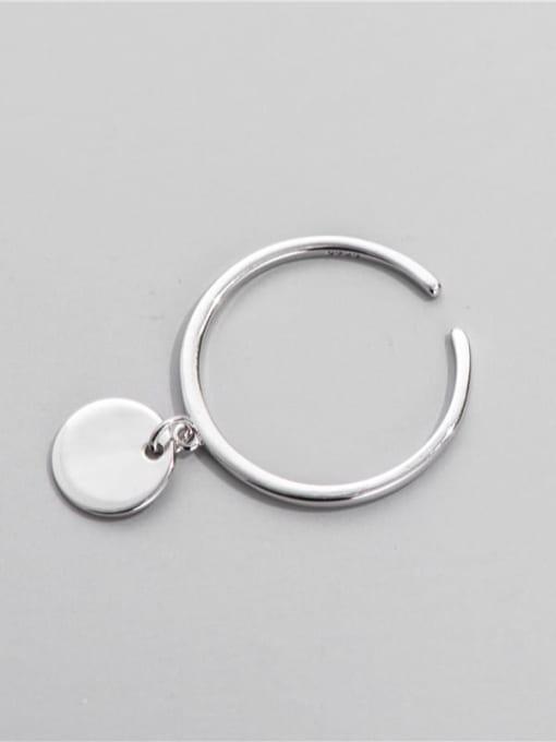ARTTI 925 Sterling Silver Round Minimalist Band Ring 0