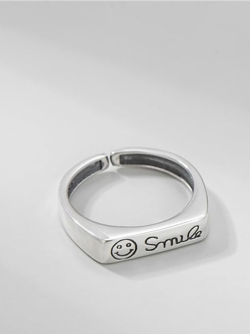 ARTTI 925 Sterling Silver Geometric Vintage Band Ring
