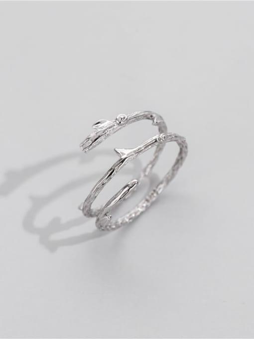 ARTTI 925 Sterling Silver Irregular Minimalist Stackable Ring 1
