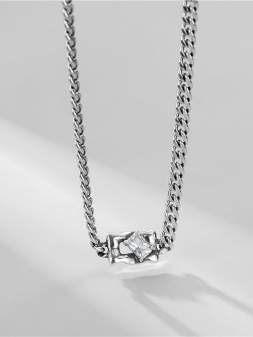 ARTTI 925 Sterling Silver Cubic Zirconia Geometric Vintage Necklace 2