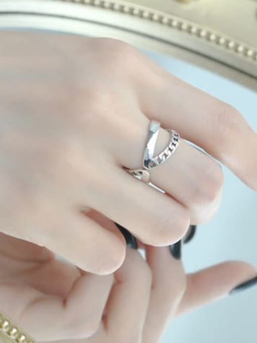 ARTTI 925 Sterling Silver Cross Vintage Stackable Ring 1