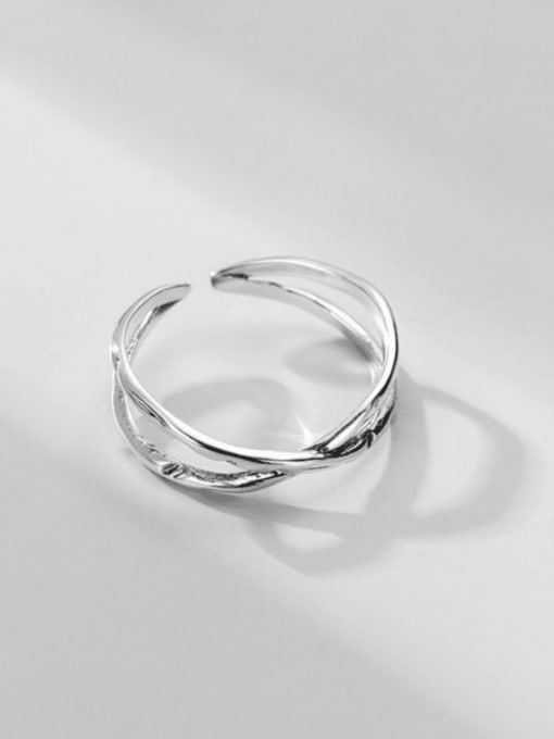 ARTTI 925 Sterling Silver Cross Vintage Band Ring 0