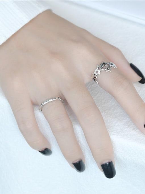 ARTTI 925 Sterling Silver Twist  Round Minimalist Band Ring 2
