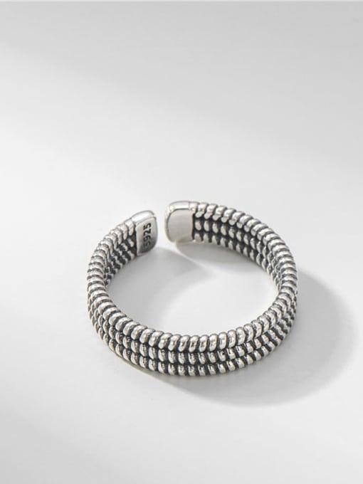 Twist ring 925 Sterling Silver Irregular Vintage Band Ring