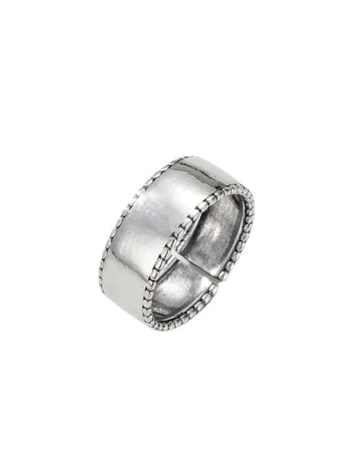ARTTI 925 Sterling Silver Smooth Geometric Vintage Band Ring 0