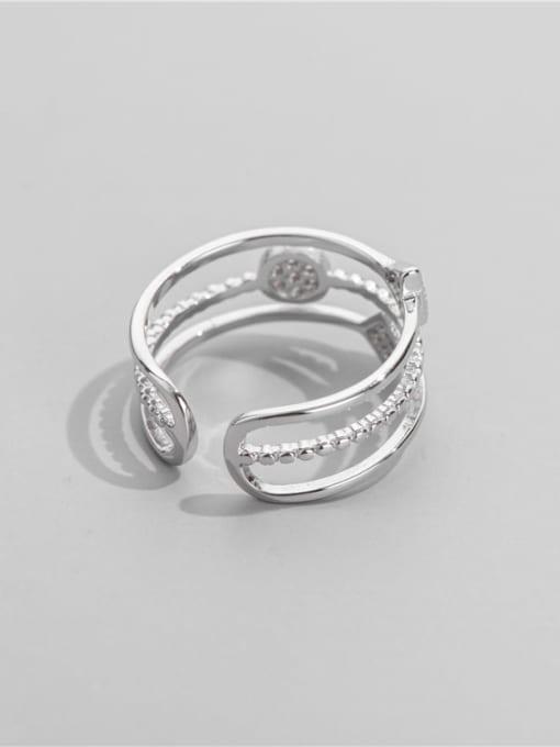 ARTTI 925 Sterling Silver Cubic Zirconia Geometric Minimalist Stackable Ring 1