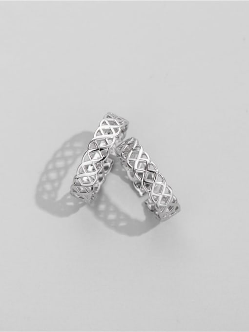 Woven ring 925 Sterling Silver Geometric Minimalist Band Ring
