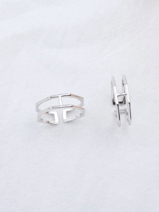 ACE 925 Sterling Silver Geometric Minimalist Stackable Ring 2