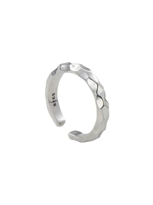 Knock face ring 925 Sterling Silver Round Vintage Band Ring