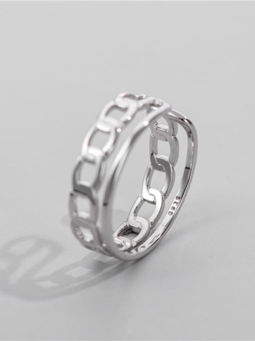 Rope ring 925 Sterling Silver Geometric Chain Vintage Band Ring