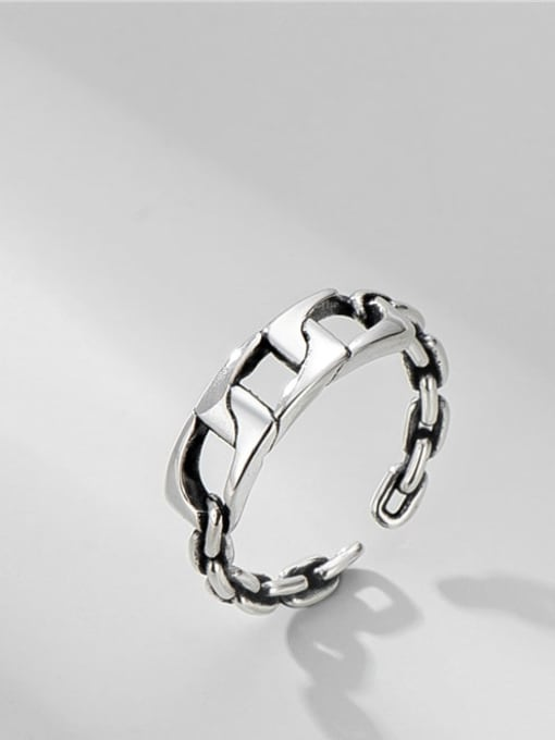 Strap ring 925 Sterling Silver Geometric Minimalist Band Ring
