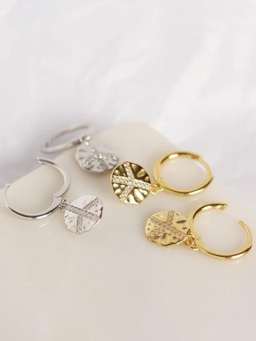 ACE 925 Sterling Silver Geometric Trend Huggie Earring 1