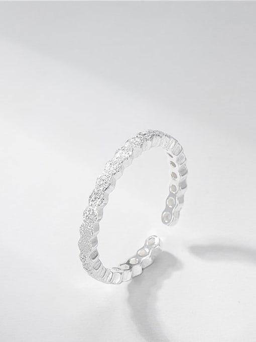 ARTTI 925 Sterling Silver Round Minimalist Band Ring