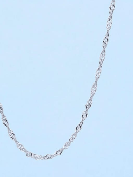1.0mm#Singapore#45cm 925 Sterling Silver Chains