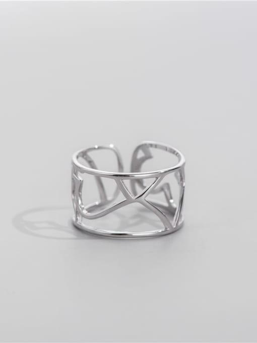 ARTTI 925 Sterling Silver Geometric Minimalist Stackable Ring