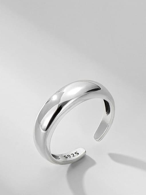 Plain ring 925 Sterling Silver Irregular Minimalist Band Ring