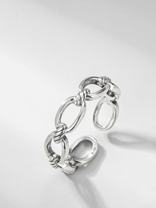 Oval ring 925 Sterling Silver Geometric Minimalist Band Ring
