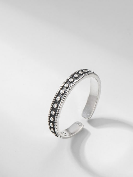 ARTTI 925 Sterling Silver Round Vintage Band Ring 0