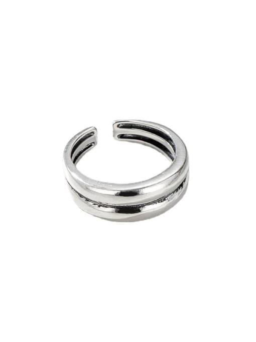 ARTTI 925 Sterling Silver Irregular Vintage Stackable Ring 4