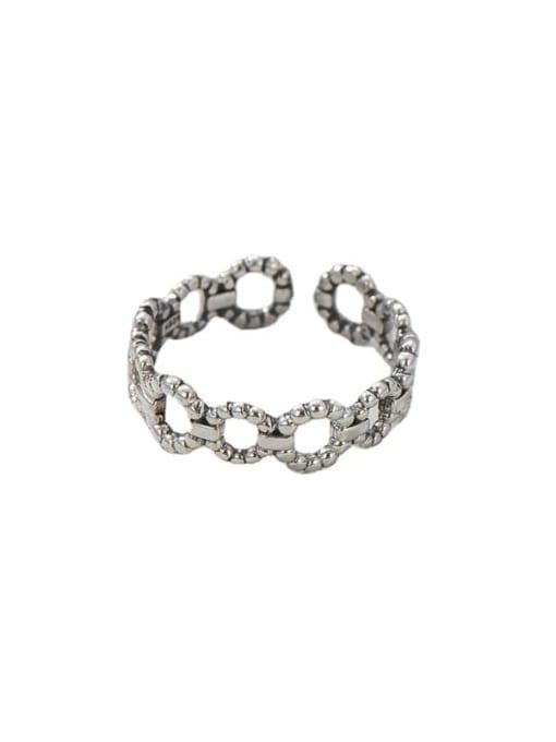 ARTTI 925 Sterling Silver Geometric Vintage Band Ring 4