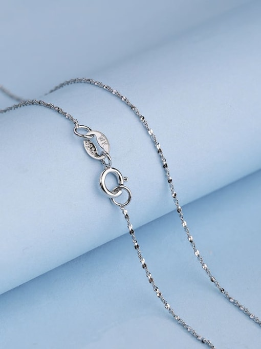 Supply 925 Sterling Silver Lengthen Twisted Serpentine Chain 0