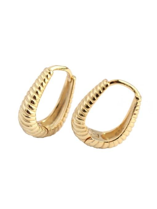 ACE 925 Sterling Silver Geometric Hip Hop Huggie Earring 1