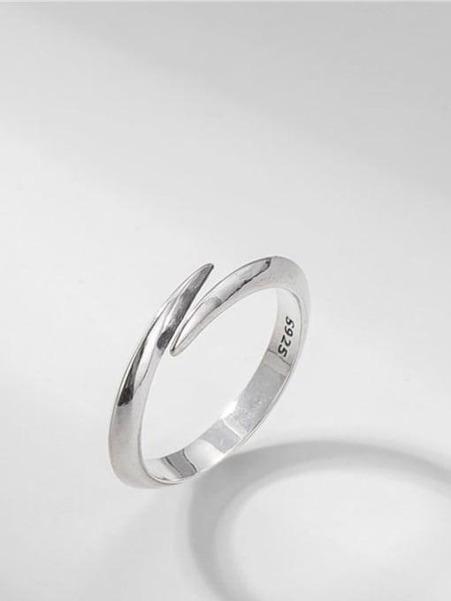 Dovetail ring 925 Sterling Silver Irregular Vintage Band Ring