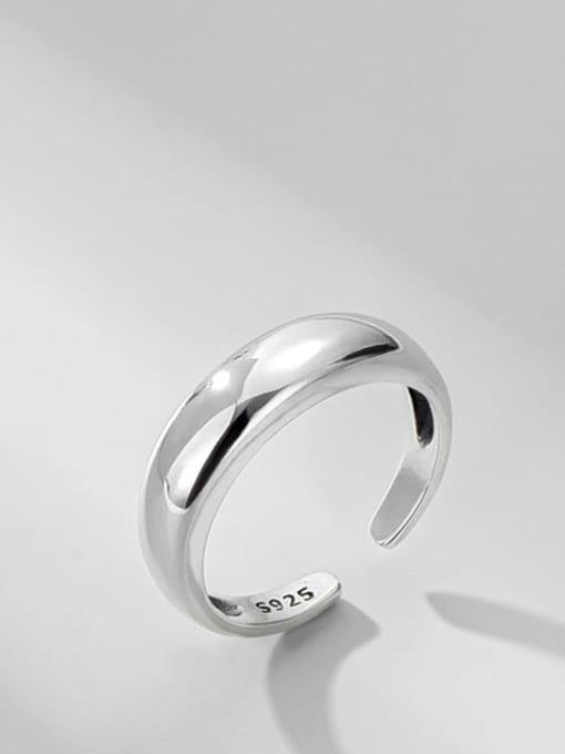 ARTTI 925 Sterling Silver Irregular Minimalist Band Ring 3