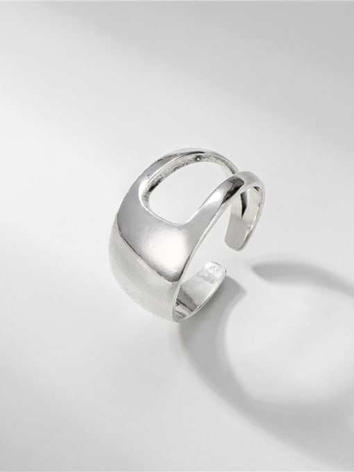 Smooth ring (3.8g) 925 Sterling Silver Geometric Minimalist Band Ring
