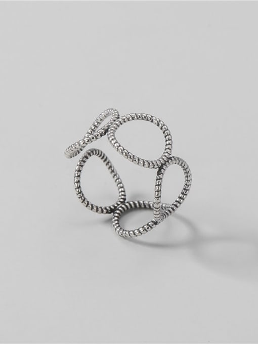 Twist ring 925 Sterling Silver Geometric Vintage Band Ring