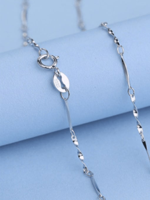 0.7mm#Twisted#40cm 925 Sterling Silver Chains